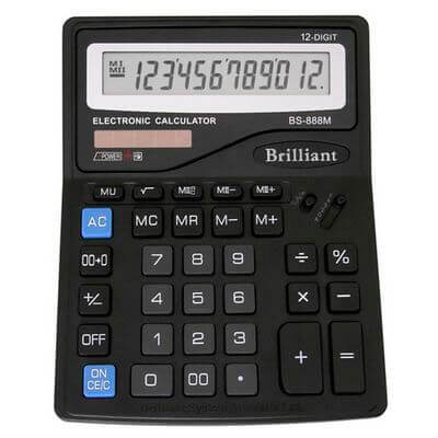 Калькулятор Brilliant BS-888М 12р., 2-пит