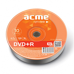 Диск DVD+R Mix 4,7Gb 16х Shrink 10 штук/упаковка