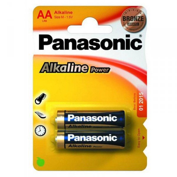 Батарейки Panasonic ALKALINE POWER LR6 (AA)